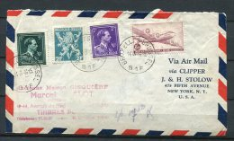 Belgium 1946 Cover Bruxelles To USA New York - Covers & Documents
