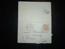 CL ENTIER MOUCHON 15C OBL. 8 JANV 02 BOIS GUILLAUME SEINE-INFRE (76 SEINE-MARITIME) - 1877-1920: Semi-moderne Periode