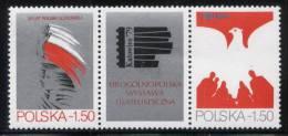 POLAND 1979 8th NATIONAL PHILATELIC EXHIBITION KATOWICE 30 YR PRL LABEL Polish Peoples Republic NHM Communism Flag Eagle - Ongebruikt