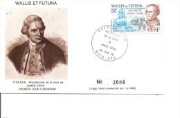 Explorateurs -Cook ( FDC De Wallis Et Futuna De 1979 à Voir) - Explorers