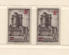 FRANCE  ( D15- 6135 )  1941  N° YVERT ET TELLIER   N° 491    N** - Variétés: 1941-44 Neufs