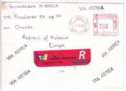 Argentina  To Moldova ; 2002 ;  Used Cover - Argentina