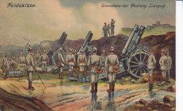 LONGWY, Feldskisse, Dessin Allemand De Combat, Explication Au Dos - Longwy
