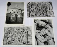 SOUILLAC - 46 - Lot 4 CPSM : Eglise Abbatiale  :Chevet - Tympan - Pilier Sculpté - - Souillac