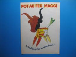 Publicité 1956 Pot-au-feu MAGGI    Qui Fait Un Effet...boeuf ! - Advertising