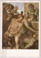 Michelangelo Buonarroti , Figurengruppe Mit Opfertieren Aus Dem Dankopfer Noahs , Fresko , Rom , Sixtinische Kapelle - Tableaux, Vitraux Et Statues