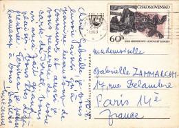 TCHECOSLOVAQUIE 60h XXIII è MEZINARODNI GEOLOGICKY KONGRES Sur CARTE POSTALE SPINDLERUV MLYN - Tchécoslovaquie