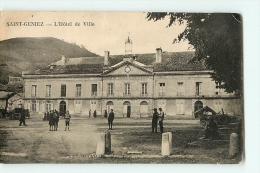 SAINT GENIEZ - Hôtel De Ville Animé - Edition Nouvelles Galeries - 2 Scans - France