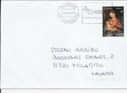 BARCELONA CC SELLO NAVIDAD VIRGEN CON NIÑO ARTE - Madonnas
