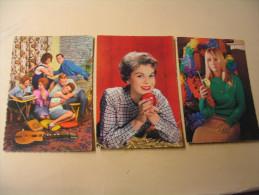 LOT DE 3 CARTES ANNEES 60-70...FEMMES ET JEUNES....EN MUSIQUE. - Fancy Cards