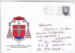Slovenia   To Moldova ; 1999  ;  Coat Of Arms ; Used Pre-paid Envelope - Slovenia