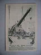 Cartolina Britain At War: Making Munitions. Mounting A Great Gun. Prima Guerra Mondiale - Manovre