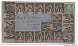 Lettre Avec 20 Timbres 1c Et Un 5c Pour Les USA. - Covers & Documents