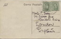 TP 137(2) S/CP Ostend Pont/Brug/Bridge C.Paquebot-Paketboot Ostende-Dover 12/8 Without Year To England PR514 - 1915-1920 Albert I