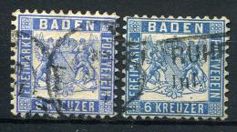 17670) BADEN # 19 A+aa Gestempelt Aus 1862, 121.- € - Bade