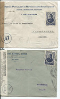 Portugal 4 Covers Lisboa&Porto 1945 Censored (Belgian Censor Contrôle Des Communications) To Waasmunster PR516 - Briefe U. Dokumente