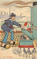 Themes Div-ref G839- Bateaux - Bateau - Marine De Guerre -nos Marins -illustrateur Gervese -chauffeur- Carte Bon Etat  - - Warships