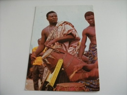Drummers In Action Ghana Costumi Tamburo - Ghana - Gold Coast