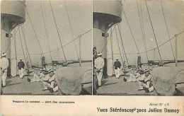 Themes Div-ref G815- Bateaux - Bateau -marine De Guerre -pendant Le Combat -abri Des Canonniers -canons - - Guerra