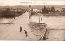 LANDES - PEYREHORADE - Traversé Du PONT-NEUF - MULETIER + MULET - Peyrehorade