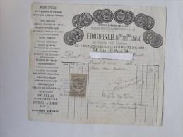 PHARMACIEN Facture 1884: Ecole Vétérinaire D'Alfort - Rue St-Paul PARIS - 1800 – 1899