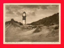 CPA  ALLEMAGNE  -  BORKUM   -  Dünenpartie Mit Dem Neuen Leuchtturm - Borkum