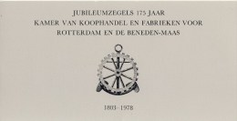 Erinnofilie: Carnet Jubileumzegels 175 Jaar KvK Rotterdam - Erinnofilie