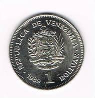 VENEZUELA  1  BOLIVAR  1989 - Venezuela
