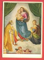 141754 / Italian Art Raphael ( Raffaello Sanzio Da Urbino) - Sistine Madonna , Church Of San Sisto, ANGELS - GERMANY - Angeles