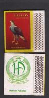 PAKISTAN MATCH BOX LABEL - FALCON BIRDS Small Size - Matchbox Labels