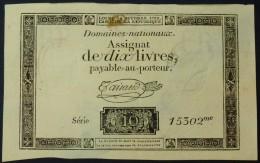 ASSIGNAT De 10 Livres Série 15302 Du 24 Octobre 1792. Paper Money - Assignats & Mandats Territoriaux