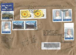 Nepal 2004 Kathmandu Mountain King Ganesh Cave Barcoded Registered Cover - Nepal