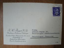 "Alte Firmenpostkarte ""R.W. Paegert KG, Maschinen, Traktoren, Anhänger, Frankfurt(Oder)"" Gelaufen 1942 ! - Allemagne"