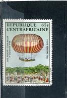 CENTRAL AFRICAN REPUBLIC. 1983. SCOTT C282. MANNED FLIGHT BICENTENARY. ROBERT'S & HULLIN'S BALLOON - Centrafricaine (République)