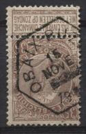 Obl. Hexagonale Chemins De Fer OBAIX-BUZET S/TP N°61. Rare Sur Timbre-poste. Hexagone - 1893-1900 Thin Beard