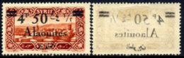 -Alaouites 44* Variété Surcharge Sur Gomme - Alaouites (1923-1930)