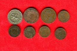 BELGIQUE - BELGIUM -  LOT 1 CENTIME 1862, 1870? 1882, 1902, 1907 - 2 CENTIMES  1873, 1875 - 10 CENT. 1894 - 03. 5 Céntimos