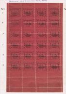 Venezuela 1903 ESTADO GUAYANA Complete Sheet, Displaced Perforation, Partly Hinged, No Certificate - Venezuela
