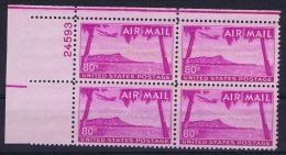 USA Airmail 1952 Mi 62 / C46 Cornerblock, MNH/** - Marcofilie