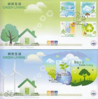 Hong Kong China Stamp On CPA FDC: 2011 Green Living Stamp & Souvenir Sheet HK123363 - 1997-... Chinese Admnistrative Region