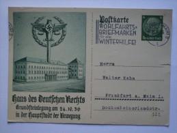 GERMANY 1936 PROPAGANDA CARD HAUS DES DEUTSCHEN - Germania