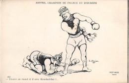 ¤¤  - 181  -  Illustrateur  - Carte Patriotique - Joffre, Champion De France Et D'Europe  -  Boxe, Sport - Patriotic