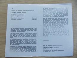 Doodsprentje Trees Suffis (Zuster Van Maria) Poperinge 19/12/1926 Izegem 2/4/1994 - Religion & Esotericism