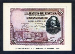 Colectarjetas A 8 - *España - 50 Pesetas - 1928* Ed. Eurohobby. Nueva. - Monedas (representaciones)