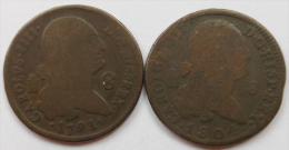 Espagne Spain LOT 2 X 8 Maravedis - [ 1] …-1931 : Kingdom