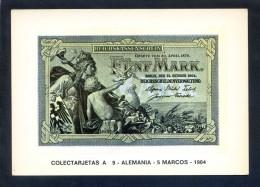 Colectarjetas A 9 - *Alemania - 5 Marcos - 1904* Ed. Eurohobby. Nueva. - Monedas (representaciones)