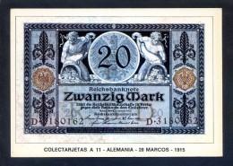 Colectarjetas A 11 - *Alemania - 20 Marcos - 1915* Ed. Eurohobby. Nueva. - Monedas (representaciones)