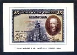 Colectarjetas A 12 - *España - 25 Pesetas - 1928* Ed. Eurohobby. Nueva. - Monedas (representaciones)