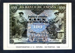 Colectarjetas A 14 - *España - 100 Pesetas - 1906* Ed. Eurohobby. Nueva. - Monedas (representaciones)