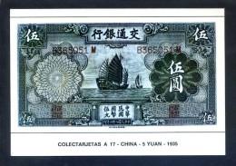 Colectarjetas A 17 - *China - 5 Yuan - 1935* Ed. Eurohobby. Nueva. - Monedas (representaciones)